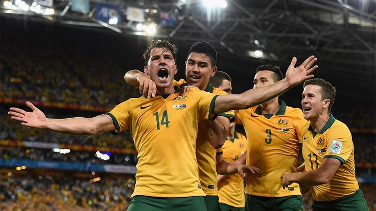 James Troisi celebrates his match winning goal in the final of the AFC Asian Cup. Australia defeated Korea 2-1 after extra time. #ac2015 #socceroos #australia