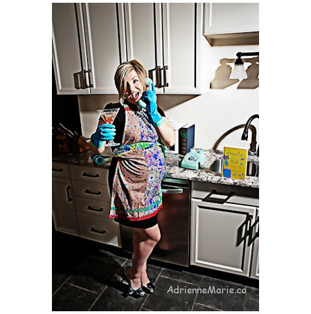 Retro, silly preggers photos - it's just juice!