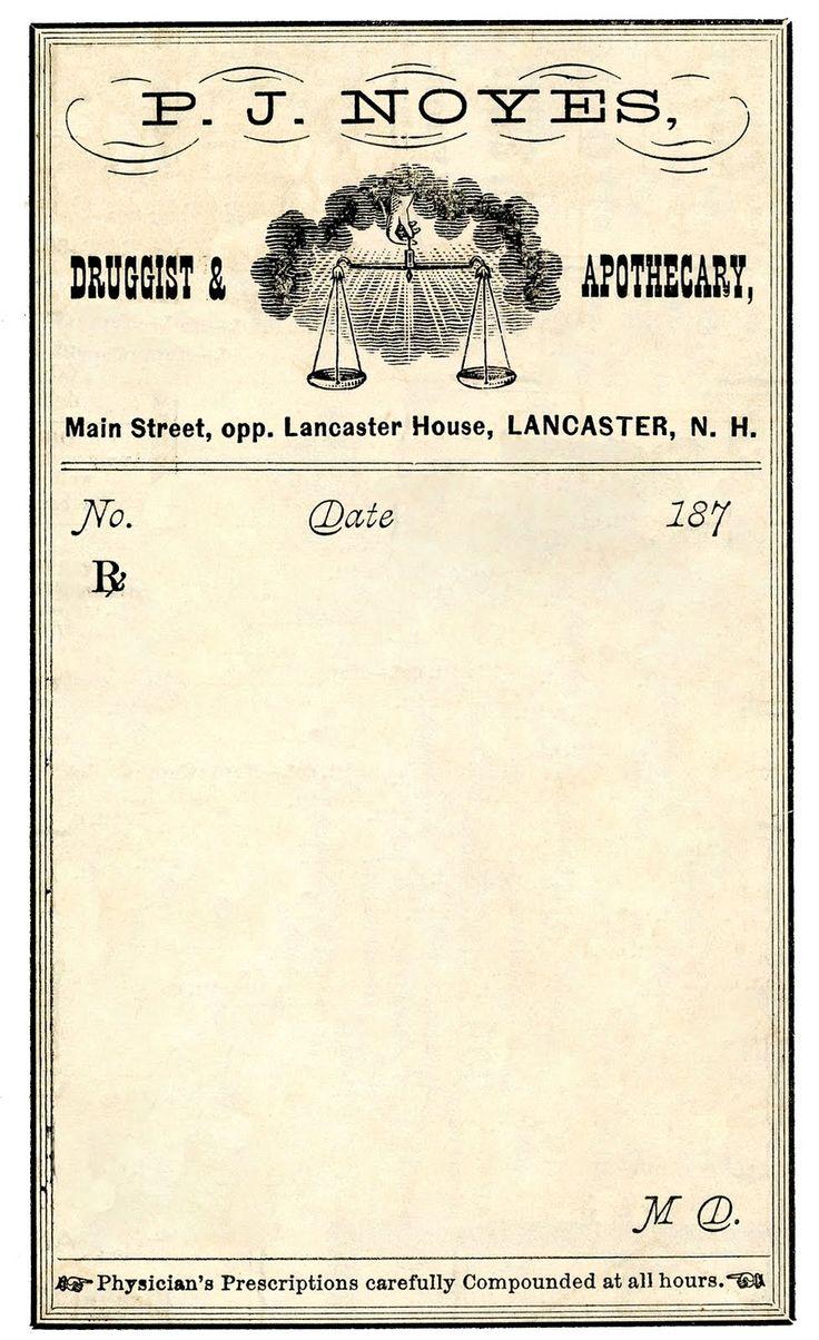 Vintage Clip Art - Antique Druggist Label - The Graphics Fairy