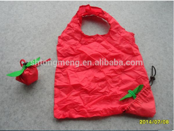 Apple-shaped foldable reusable bag. http://www.alibaba.com/product-detail/Promotion-Fruit-Reusable-Shopping-Bag-Apple_1963608071.html