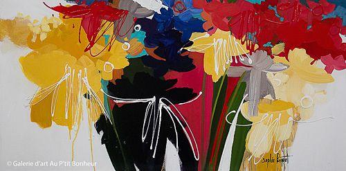 Sophie Paquet, 'Un matin ensolleillé', 24'' x 48'' | Galerie d'art - Au P'tit Bonheur - Art Gallery