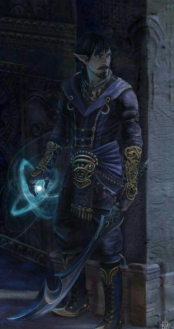 Elf Magus - Pathfinder PFRPG DND D&D d20 fantasy