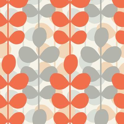 Orange and grey wallpaper