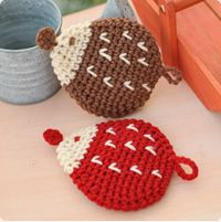Popular acrylic scrubbing brush work can make!  Knit!  Free download how to make and knitting view!