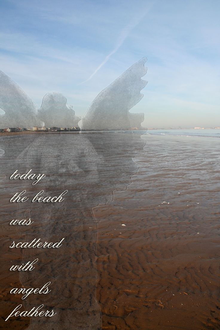 angels' feathers... Oh my.. I always said that the ripples in the sand reminded me of angel feathers.. LOVE THIS