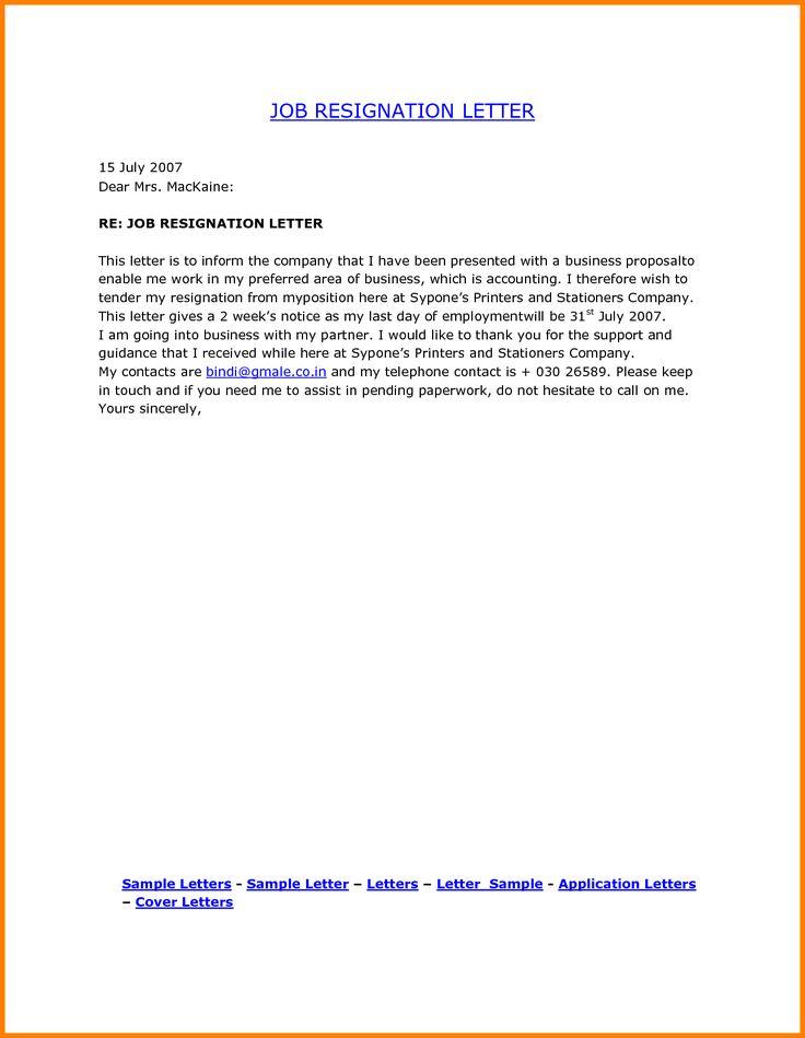 best 25 resignation letter format ideas on pinterest sample of letter sample of resignation