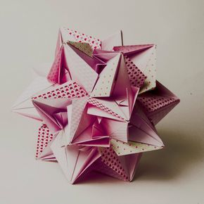 kusudama 30 origami sheets of paper 20x20 pink/pattern