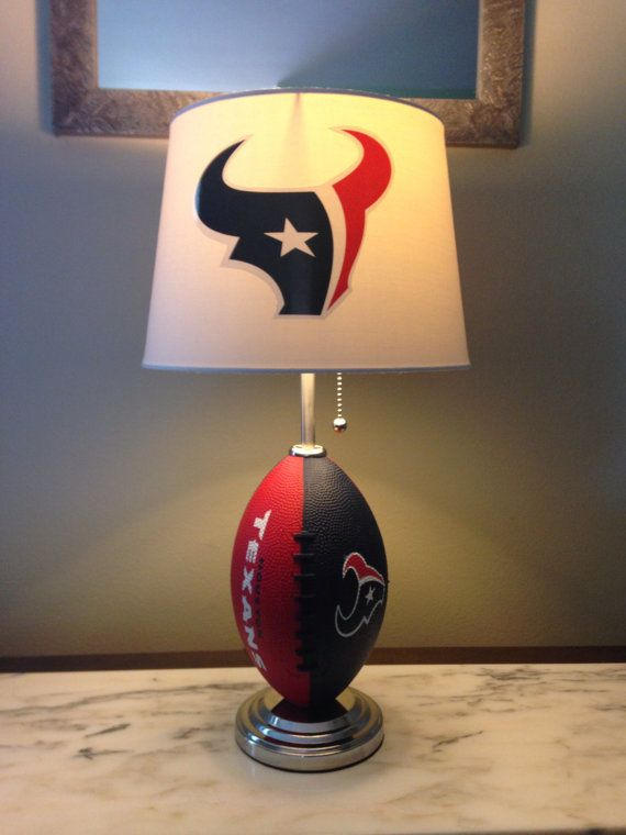 Houston Texans football lamp by thatlampguyGraz on Etsy