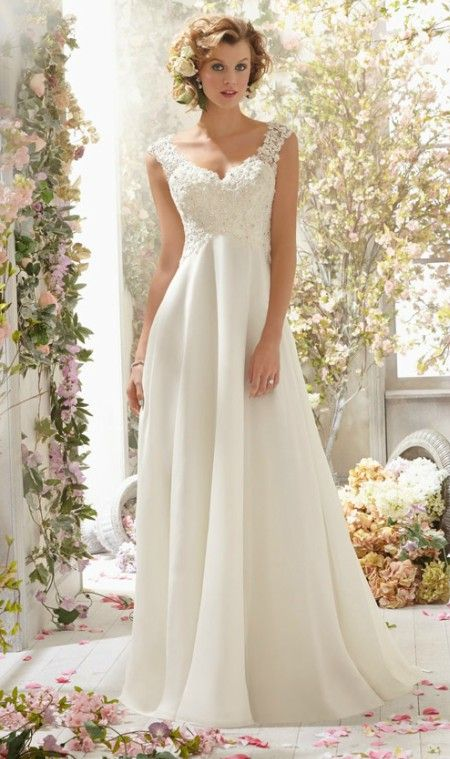 2017 Sheath Wedding Dresses For Greek Goddess Simple Brides Wear ...