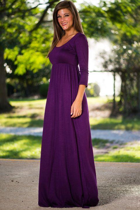 The Ari Maxi Dress, Purple - The Mint Julep Boutique