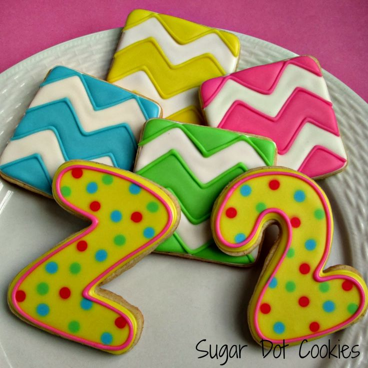 Chevron And Number Cookies Sugar Dot Cookies Sugaring