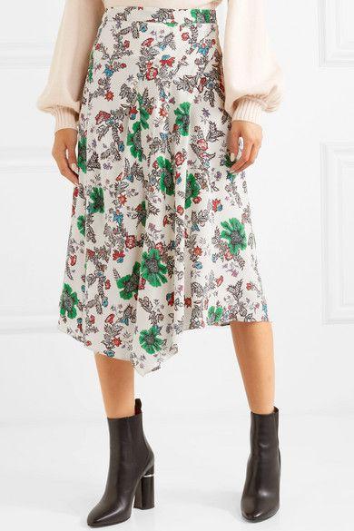 39a70498c Isabel Marant | Cacia floral-print silk-blend crepe de chine skirt |  NET-A-PORTER.COM