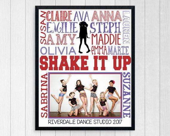 DANCE TEAM GIFT ~ Dance Gifts ~ Dance Studio Poster ~ Printable Dance Subway Art ~ Dance Photo Gift ~ Personalized Dance Teacher Gift
