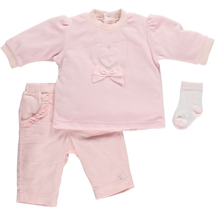 Baby Girls Outfit - 2 piece Top & Trousers with Socks - Emile et Rose