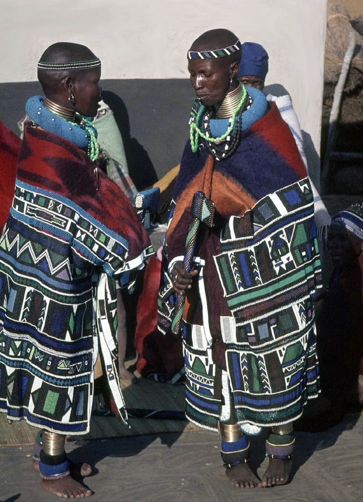 Africa | Ndebele women.  South Africa.  ca. 1971 | ©kiciek, via flickr