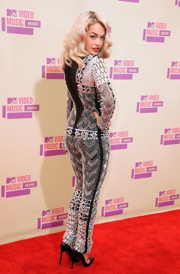 Rita Ora's bold jumpsuit.