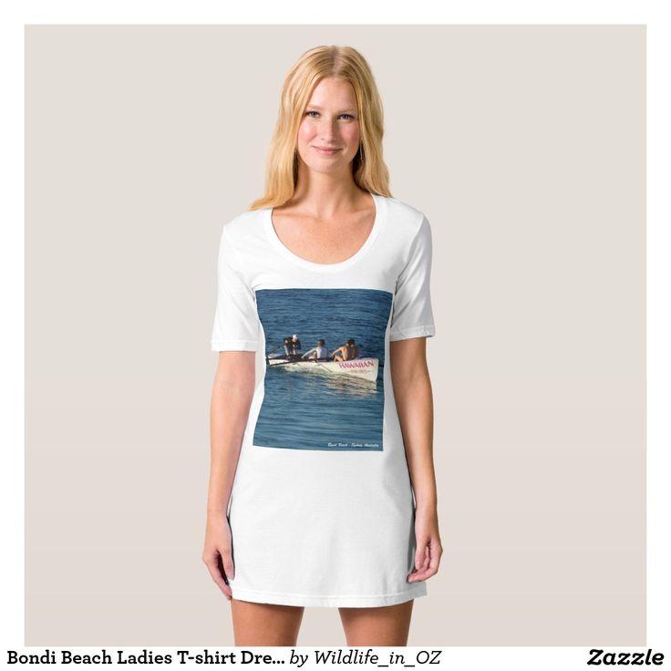 Bondi Beach Ladies T-shirt Dress / Nightie Bondi Beach Australiana - Click on photo to view item then click on item to see how to purchase that item. #bondibeach #bondi #iconicbeach #sydney #australia #surf #sunrise #sand #surf #rowing