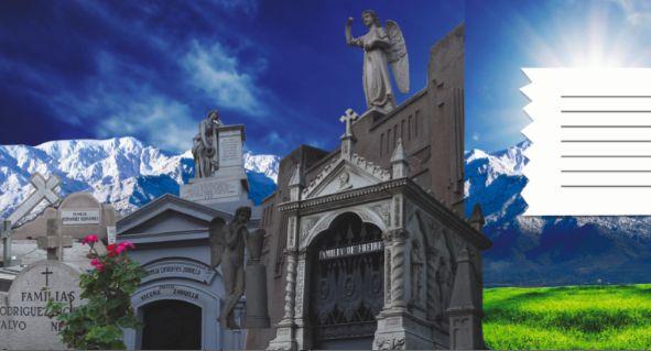Diseño Postales Pop up cementerio general