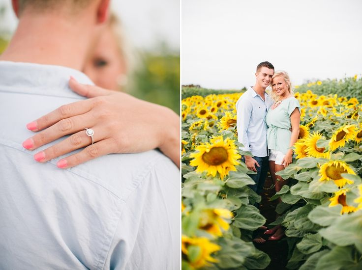 Hawaii sunflower field engagement photos by oahu wedding photographer ifloyd photography