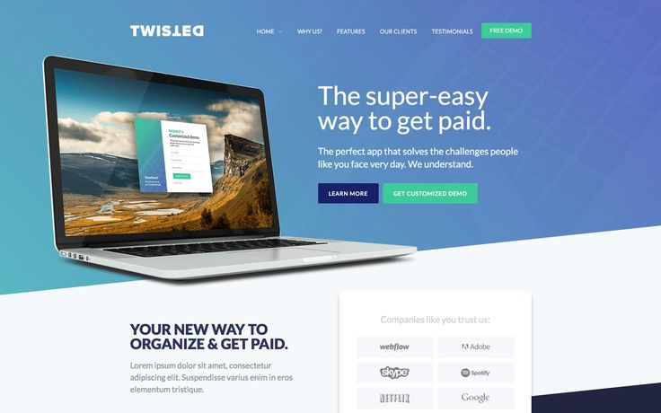 156 best unique responsive website templates images on pinterest twisted one page website template meteorsites websitesa really cool looking modern and responsive meteosites solutioingenieria Choice Image