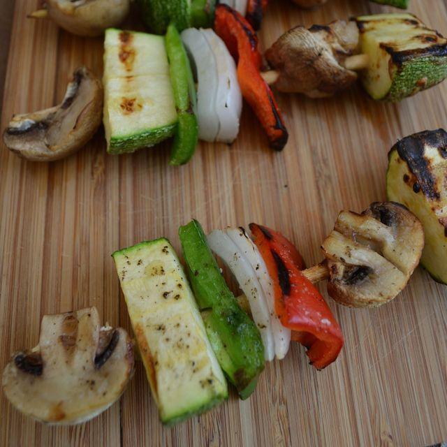 17 recetas de brochetas a la parrilla: Brochetas de vegetales