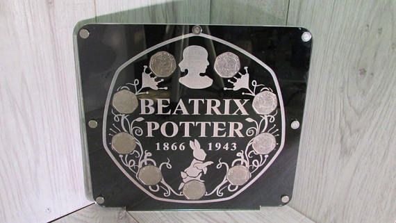 50 pence 9 coin display album Beatrix potter 50p peter rabbit