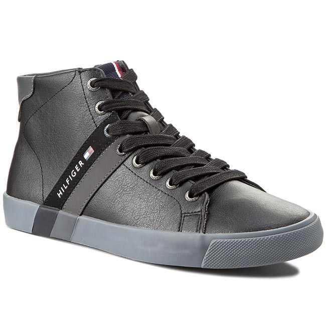 Sneakersy TOMMY HILFIGER - Volley 6A FM56819869 Black 990