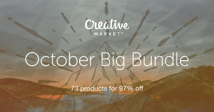 97% off! 27 fonts, 200+ illustrations, 58 logo templates, 50 textures, 3 WordPress themes, 3 custom scene generators, and much more.