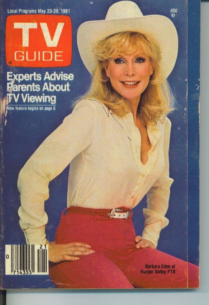 TV GUIDE MAY 23 1981 BARBARA EDEN-RON CAREY-NEWSROOM COPS HARTFORD NEW HAVEN EDT