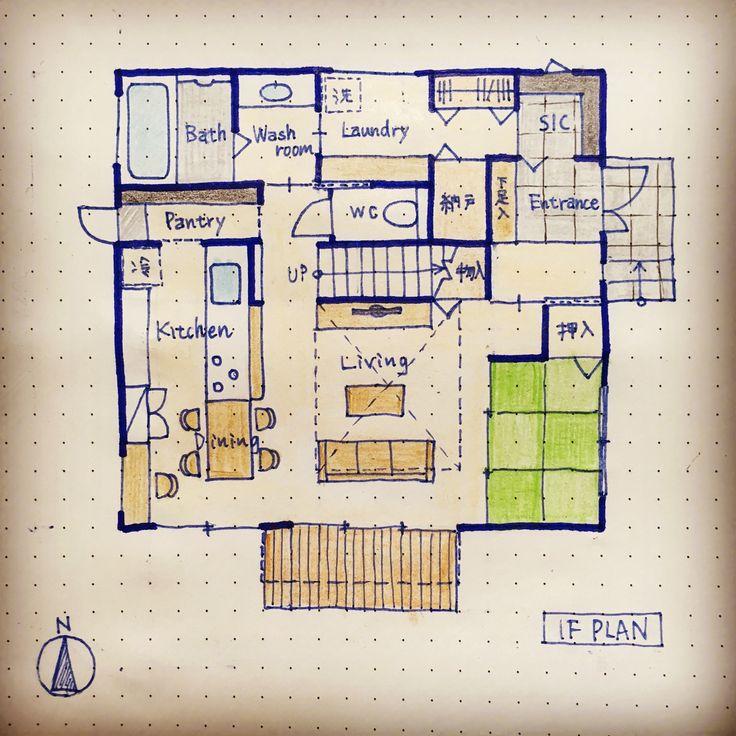 . #kazuhaマイホームプランニング #吹抜けのある家 . いつもと少し思考を変えて リビングに吹抜けを✨ . 家事動線の考え方は変えていませんが、 1階をコンパクトにしました(*⁰▿⁰*) . - kazuha.home