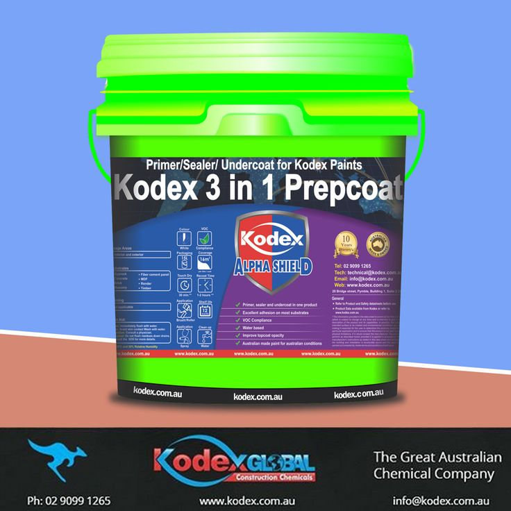 Apply Kodex 3 in 1 Prepcoat and make your interiors, exteriors walls looks attractive for years. This product can also be used in areas like concrete, brick, masonry, fibre cement sheeting. To know more click http://www.kodex.com.au/wp-content/uploads/2015/02/kodex-3-in-1-Prepcoat.pdf  #Kodex #KodexPaints #Paints #ExteriorPaints #InteriorPaints