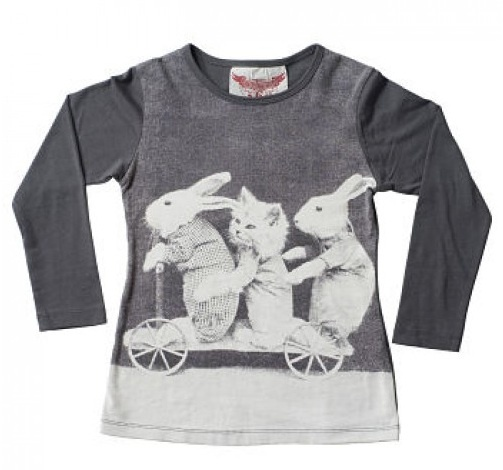 Very cute tee with Bunny and Kitten print ... perfect for Easter!