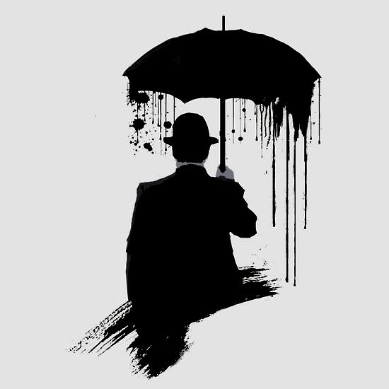 Image result for silhouette rain