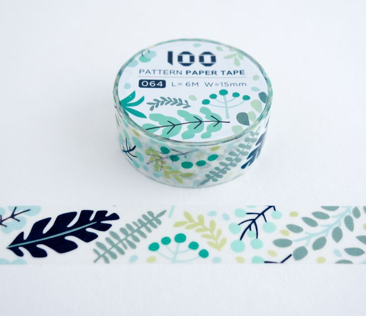 Forest Leaves - FunTape 100 Pattern Washi Tape