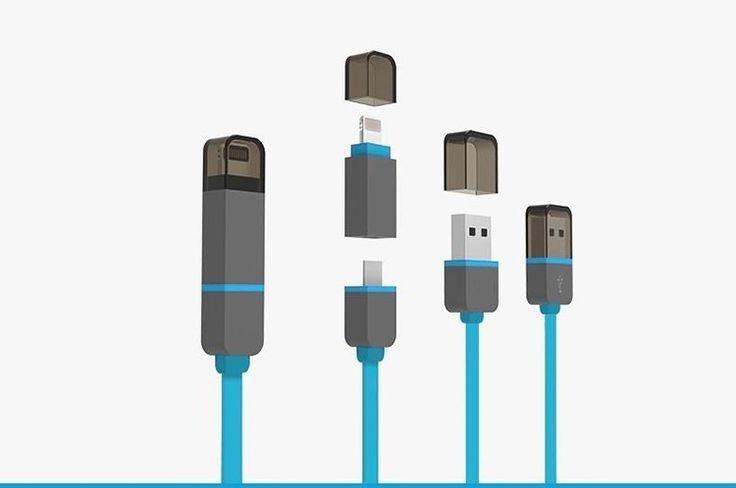 Cable 2 en 1 MicroUSB - Lightning Retractil 10246 -  El cable carga fácilmente en cualquier puerto USB, ya sea de un PC o utilizando de un adaptador cargador USB para las tomas de pared o de coche. Al conectarlo a un Mac o PC además de cargar su Smartphone, iPhone, iPad o iPod podrá sincronizar los datos o pasarlos de su dispositivo al ord... - http://www.vamav.es/producto/cable-2-en-1-microusb-lightning-retractil-10246/