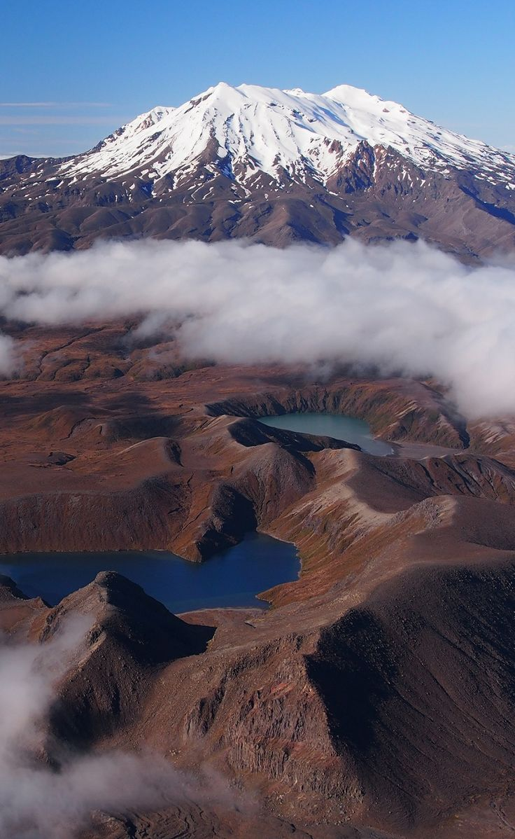 Mt Ruapehu and the Tama Lakes,Tongaririo National Park, North Island, New Zealand