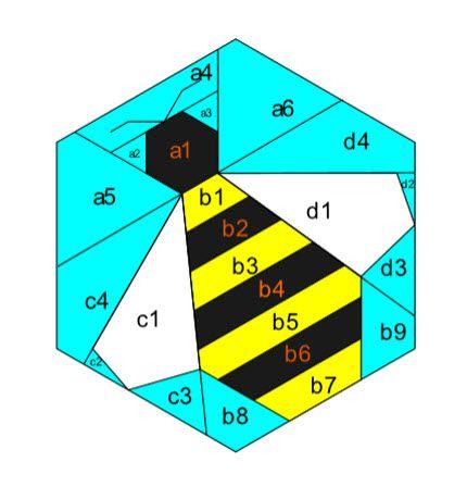 Free pattern: Honeycomb bee