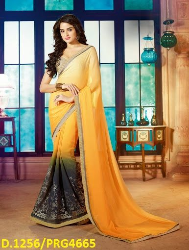 Saree fabric - Satin+georgette