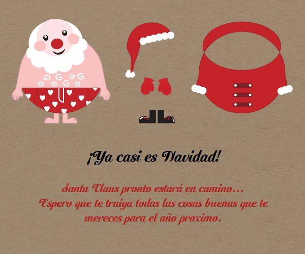 Santa Se Viste De Navidad-Celebra con estilo con las invitaciones y tarjetas virtuales de LaBelleCarte: www.LaBelleCarte.com