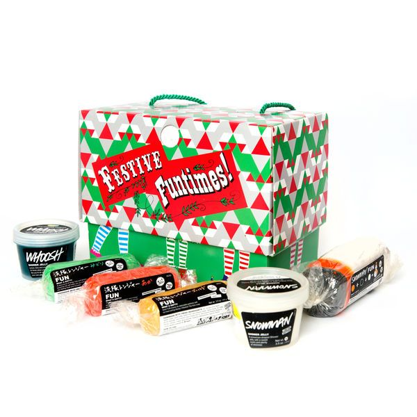 Festive Funtimes Gift - This set of red, gold, green and Snowman FUN makes this gift perfect for creating your own festive scene! FUN is four, moisturizing products in one: soap, bubble bath, shampoo and moldable toy. ($38.95)