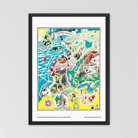 Moomin poster - The original game board of Moomin game