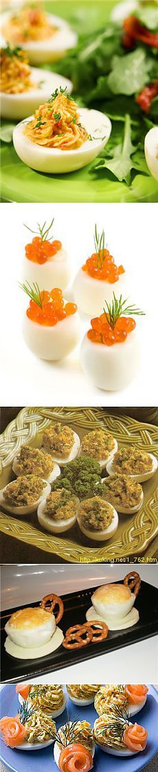 Фаршированные яйца: 35 рецептов.