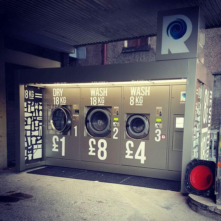 Only in Glasgow. Outdoor laundromat. laundromat idea