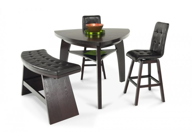 Boomerang 4 Piece Bar Stool & Bench Set | Dining Room Sets | Dining Room |  Bob's Discount Furniture | Home Design | Pinterest | Bench set, Bar stool  and ... - Boomerang 4 Piece Bar Stool & Bench Set Dining Room Sets