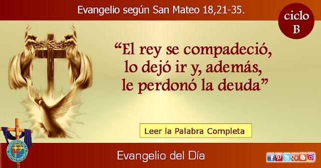 MISIONEROS DE LA PALABRA DIVINA: EVANGELIO - SAN MATEO  18,21-35