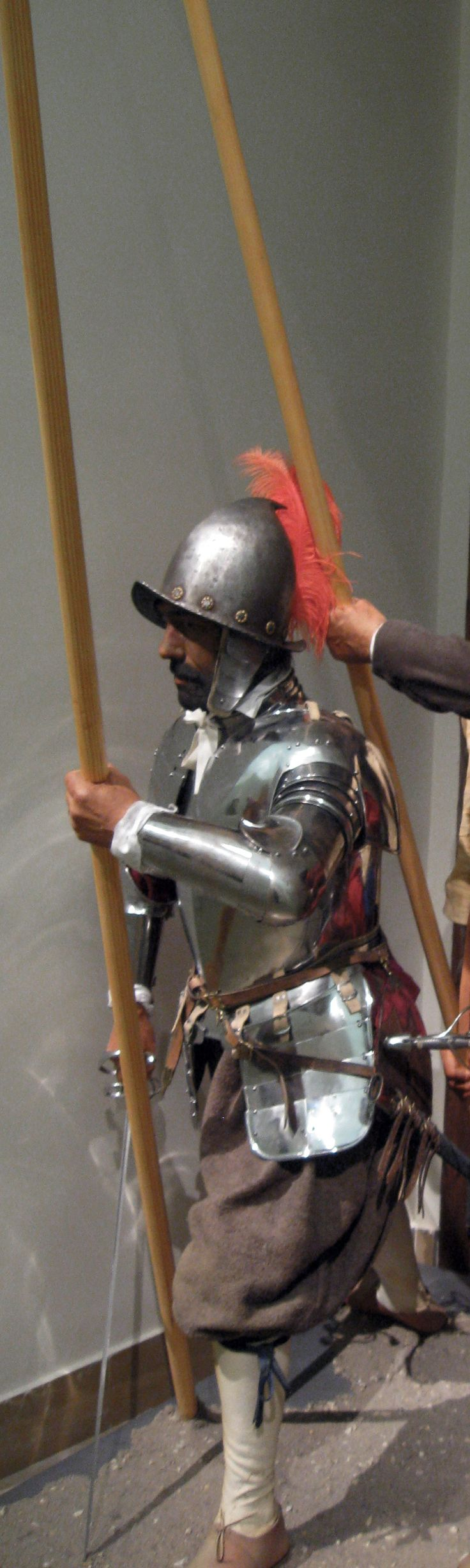 Spanish Tercio Pikeman. Armored with a coselete (the chest piece). Figure by Gerry Embleton, Time Machine; Spanish Army Museum)