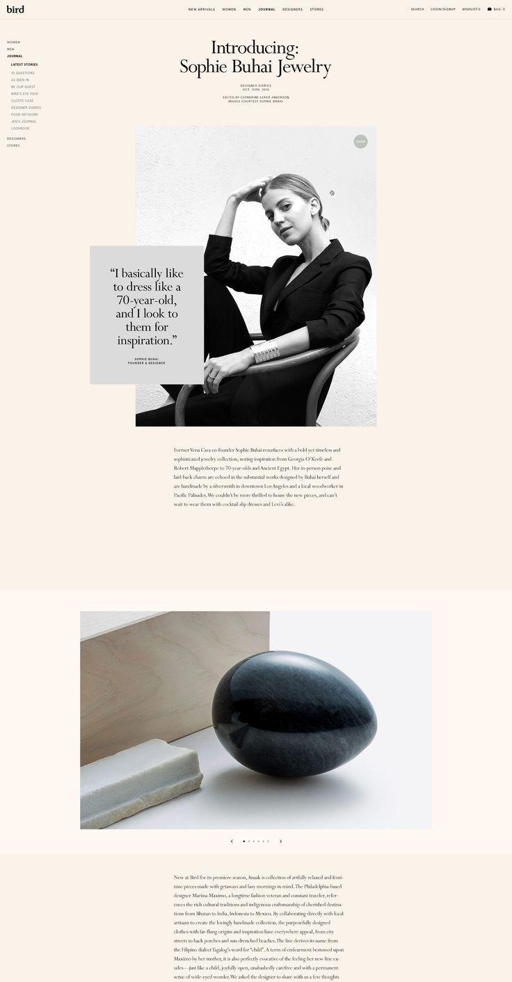 Custom Magento Web Design – Bird – Hugo & Marie, NYC