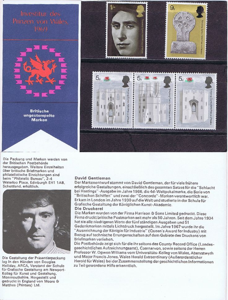 1969 Investiture German Presentation Packs - 1969 Investiture of the Prince of Wales - Presentation Packs