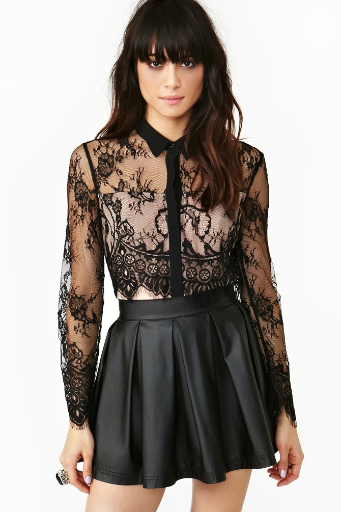 Wicked Lace Blouse in Clothes at Nasty Gal