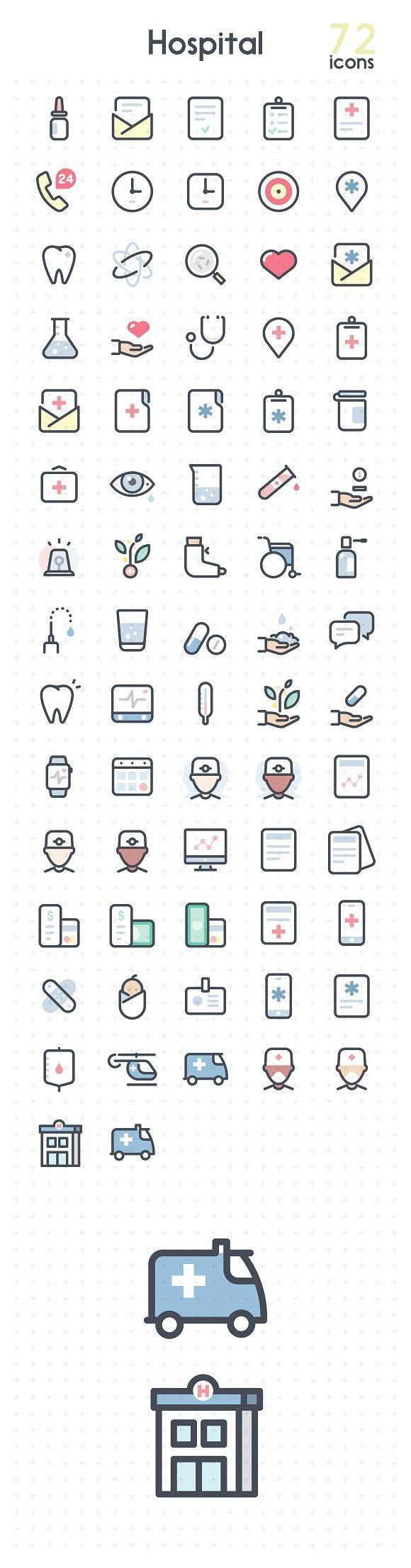 Hospital . Icons